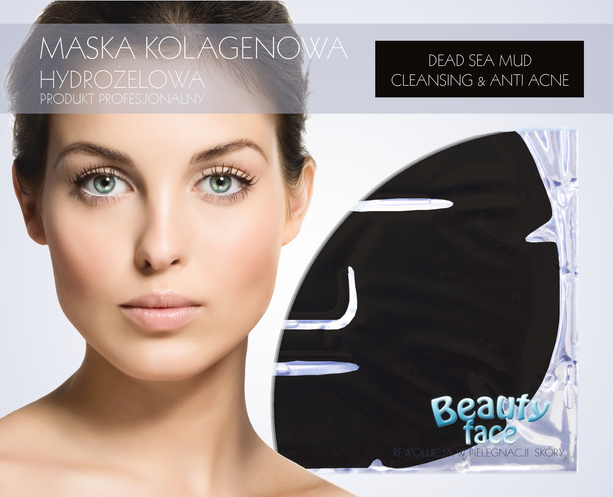 BEAUTYFACE DEAD SEA BLACK MUD CLEANSING & ANTI ACNE COLLAGEN FAC